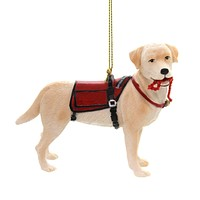 Holiday Ornaments SERVICE DOG Polyresin Guide Worker C7672