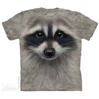 Kids Raccoon Face T-Shirt