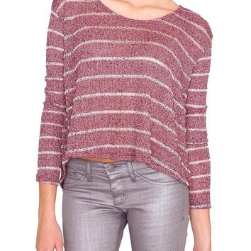 Restless Sweater Top Wine