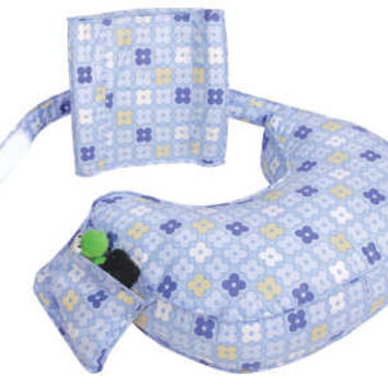 Leachco Ease Back Nursing Pillow (Blue 4 Squares)