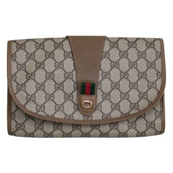 VINTAGE GUCCI MONOGRAM CLUTCH