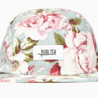 Reza Big Floral Camp Cap (Spring Blue)