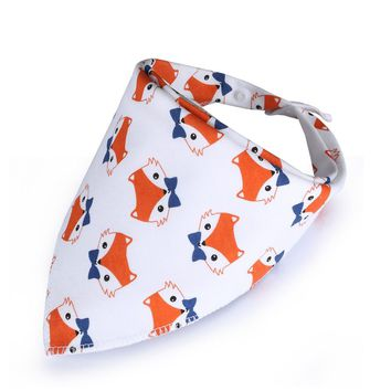 100% Cotton Newborn Baby Bibs Lovely Cartoon Animal Girls And Boys Bibs Burp Cloth Infant Bibs