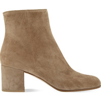 Margaux suede block heel ankle boots
