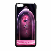 Rose Beauty And The Beast Disney Stained Glass iPhone 5c Case