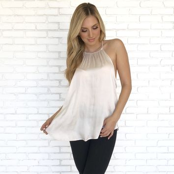 Silk and Champagne Tank Blouse