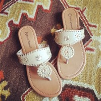 Starburst Sandals in Nude