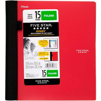 Five Star® Advance® 15-Pocket Folder