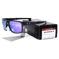 Oakley OO 9246-07 POLARIZED SLIVER F Foldable Matte Black Violet Mens Sunglasses