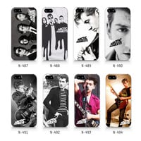 Arctic monkeys,Alex turner phone case, logo collection case iPhone 5 5S case, iPhone 4 4S case, Free shipping N487-N478