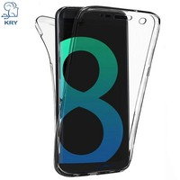 Luxury 360 Full body Phone Cases For Samsung Galaxy S8 S9 Plus Note 8 A5 J7 2017 Case Soft Clear Cover For Samsung Note 9 Cases