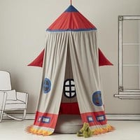 The Land of Nod: Kids Play Tents: Rocket Ship Play Tent in Playhomes and Tents