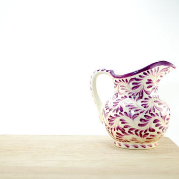 Purple serving bowl - Hostess gifts - purple kitchen decoration - serving sauce bowl - eggplant ceramics - rustic kitchen decor