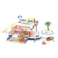 International Playthings Calico Critters Seaside Cruiser Houseboat - Walmart.com