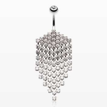 Shimmering Chandelier Drape Belly Ring