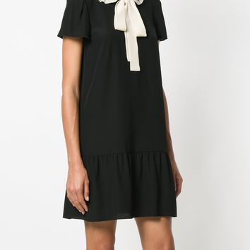 RED VALENTINO - short sleeve dress with frill edge collar