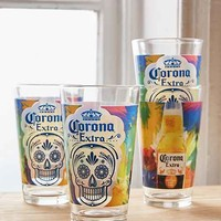 Corona Sugar Skull Pint Glasses Set