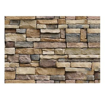 45x100cm 3D Decorative Wall Decals Brick Stone Rustic Self-adhesive Wall Sticker Home Decor Wallpaper Roll for Bedroom Kitchen