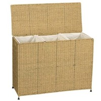 Shop Household Essentials Wicker Basket or Clothes Hamper at Lowes.com