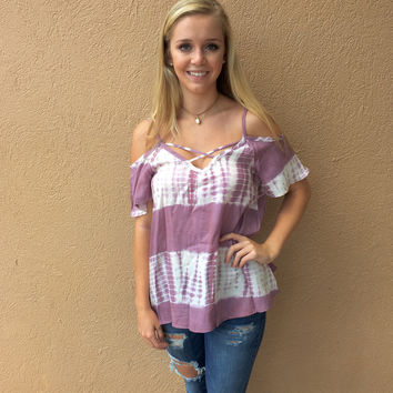 Pretty in Paradise Top - Lavender