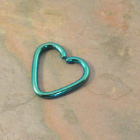 Emerald Green Heart Daith Ear Piercing Cartilage