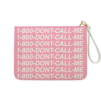 1-800-Dont-Call-Me Funny Parody - 7x9 in Faux Leather Handbag - Clutch - Pouch - AGB-007-FULL