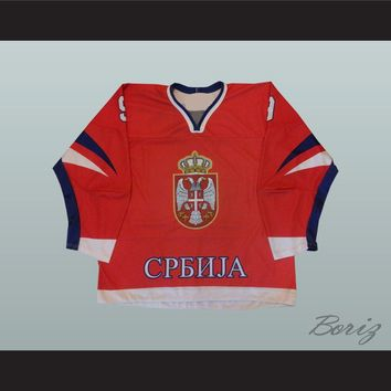 Nenad Rakovic 9 Serbia International Hockey Jersey