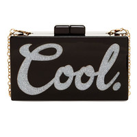 Cool Box Acrylic Clutch