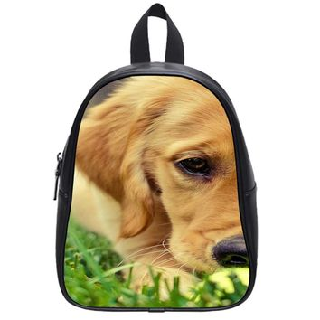 Dog With Tennis Ball School Backpack Large