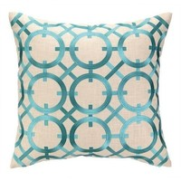 Parisian Turquoise Embroidered Pillow
