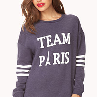 Team Paris Varsity Sweatshirt