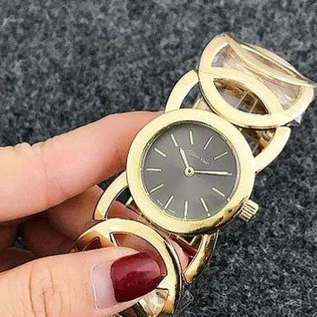 ONETOW CK Watch man women  fashion Watch F-Fushida-8899 Gold + gray black face