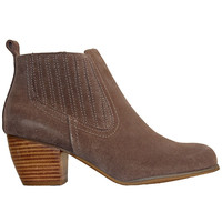 Restricted Wynter- Taupe Suede Pull-On Bootie
