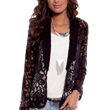 Laced Blazer in Black :: tobi