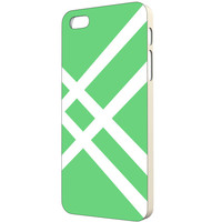 Green iPhone Case - FREE Shipping to USA stripes white striped spring colors cute bright greens slim plastic hard minimalist design original
