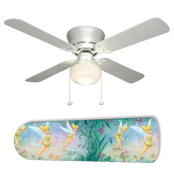 "Fairy Tinkerbell 42"" Ceiling Fan and Lamp"