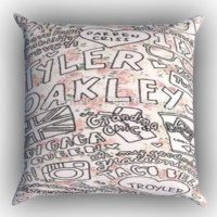 Tyler Oakley Floral Collage Zippered Pillows  Covers 16x16, 18x18, 20x20 Inches