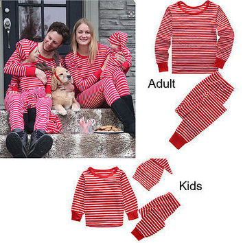 Family Matching Outfits Christmas Pajamas Sleepwear Nightwear Pyjamas Mom DAD Baby Pajama Set Baby Winter Clothing Set