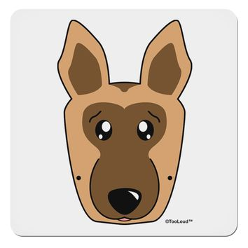 "Cute German Shepherd Dog 4x4"" Square Sticker by TooLoud"