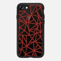 Abstraction Dense Red Transparent iPhone 7 Case by Project M | Casetify