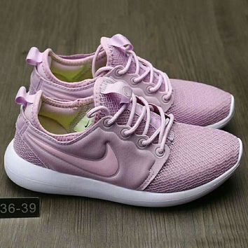 NIKE Roshe Run Women Casual Sport Shoes Sneakers Purple G-HAOXIE-ADXJ