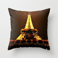Eiffel Tower Throw Pillow by Veronica Ventress | Society6