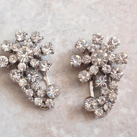 Dress Clip Set Crystal Rhinestones Shooting Star Pat 1801128 Vintage