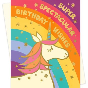 Spectacular Unicorn Card