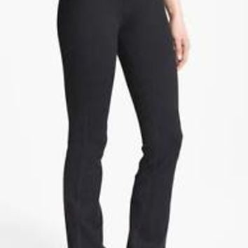 Zella 8 Barely Flare Booty Pants Workout Running Yoga Black $62 NEW