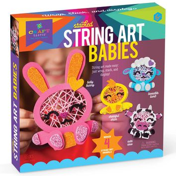 Craft-tastic Stacked String Art Babies