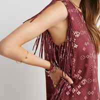 Southwestern Print Fringe Dress