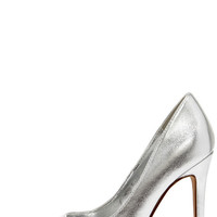 Click Your Heels Silver Pointed Pumps
