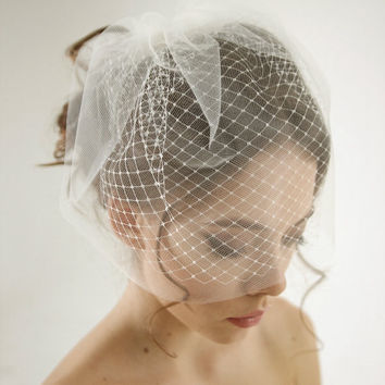 Double Layer Birdcage Wedding Veil 12 ''/29 cm Bridal Accessories White/Ivory Mesh Short Wedding Birdcage Veils Face Covers