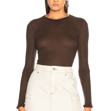 Acne Studios Isabell Sweater in Mushroom Brown | FWRD